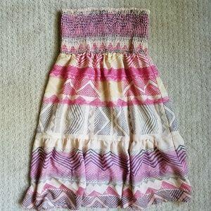 AE Strapless Silk Sundress, Size S